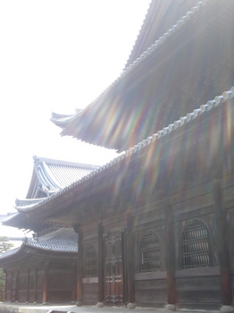法堂(手前)と仏殿