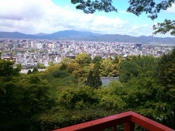 京都霊山護国神社から京都市内を見る